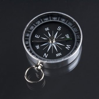 Key Ring Portable Compass Aluminum Alloy Metal Pocket Compass - intl