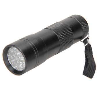 12 LED Mini UV Money Detector Ultra Violet Flashlight Torch Light Lamp - intl