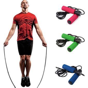 Dây nhảy thể dục cao cấp sợi nhựa đặc cao cấp dài 2.9m(Xanh lá).
