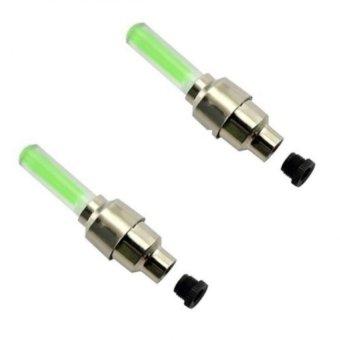 Bộ 2 đèn led gắn van bánh xe đạp (xanh)