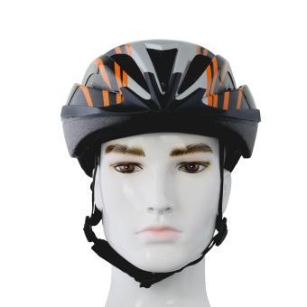 Nón bảo hiểm xe đạp Royal MH012 (Đen phối bạc có chỉ cam)