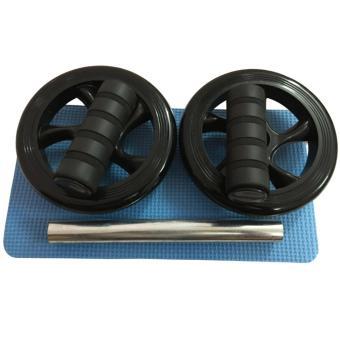 Bánh xe tập cơ bụng AB Wheel (Đen) + Thảm tập + Tặng dụng cụ lấy ráy tai