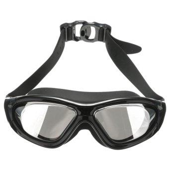 Adult Professional Waterproof Anti-Fog UV Protect Swim Glasses Swimming Goggles Black - intl