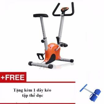 Xe đạp tập thể dục tại nhà + Tặng kèm 1 dây kéo lò xo tập cơ bụng