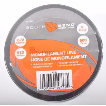 Dây cước câu cá Monofilament South Bend 6lb/900yd (2,72 kg/823 m), màu trong suốt