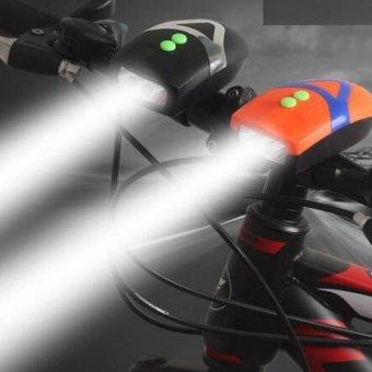 Đèn Pin LED siêu sáng trên xe đạp kèm đế kẹp N101 (Cam)
