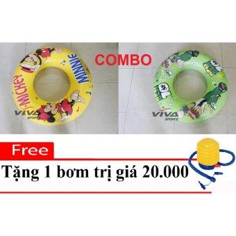 Combo 2 Phao Bơi Trẻ Em (50x50 và 70x70)