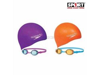 Bộ kính mũ bơi Speedo 8-093026817 Jet Junior Swim Set Assorted (Nhiều màu)
