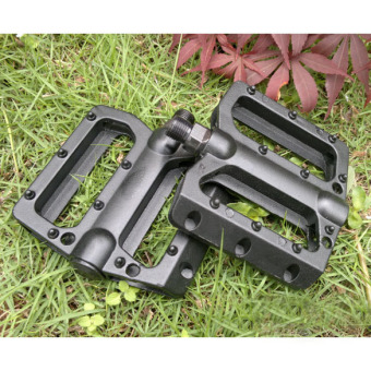 NEW Alloy MTB Bike Bicycle Pedals Aluminum Cage Black Cycling Pedals - intl