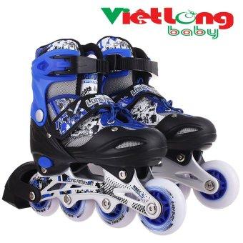 Giày trượt patin trẻ em Long Feng 906 (Xanh đen)