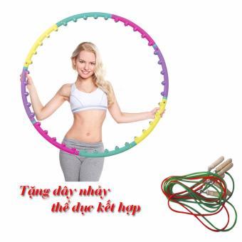 Vòng lắc eo - massage giảm mỡ bụng tặng dây nhảy thể dục kết hợp