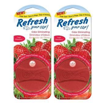 Bộ 2 vỉ viên thơm Máy Lạnh và Xe hơi hương dâu tây tươi Refresh your car Handstands D09235