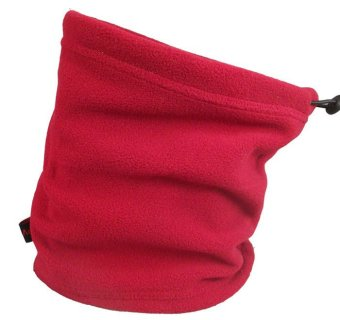 Winter Fleece Scarf Neck Warmer Face Mask Hat Skiing Cycling Hiking Red