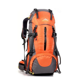 50L Climbing Outdoor Travel Sport Camping Hiking Backpack(Orange) - INTL