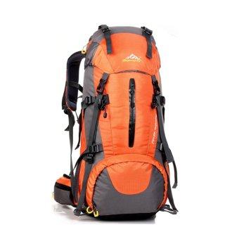 50L Climbing Outdoor Travel Sport Camping Hiking Backpack(Orange) - INTL