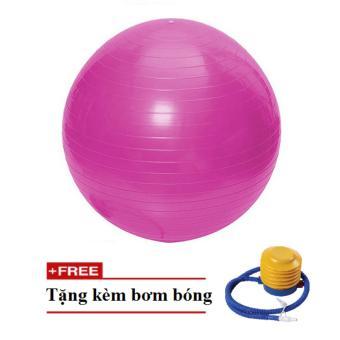 Bóng tập yoga, thể dục trơn - size75 (Hồng)