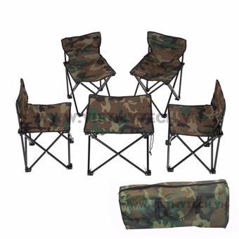 Bộ bàn ghế gấp du lịch, cắm trại Epistar Việt Mỹ, tặng kèm túi.