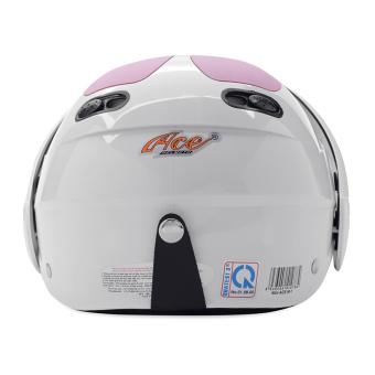 Nón bảo hiểm nguyên đầu có kính ACE M1 (Trắng hồng)