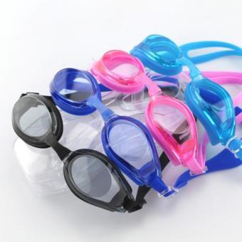 Kính bơi cao cấp Goggles cho bé + bịt tai, bịt mũi (Đen)