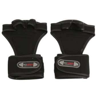 GYM Weight Lifting Gloves Health Fitness Dumbbell Wrist Wrap Grip Workout Train L - intl