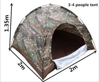 Lều Cắm Trại 3-4 Người Loại Lớn (Màu Xanh)