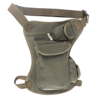 Outdoor Canvas Tactical Military Drop Leg Bag Thigh Fanny Pack Waist Belt Pouch High quality material, health Green, - intl