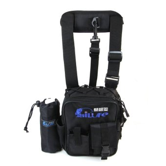 Waterproof Fishing Tackle Bag Pack Shoulder Waist Box Reel Lure Storage (Black)- - intl