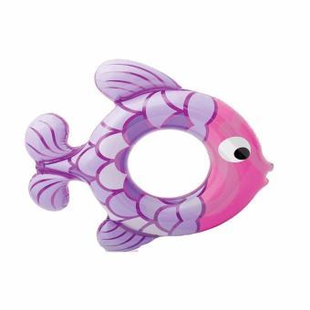 Phao tròn Intex hình cá tím kích thước 77 x 76 cm dùng cho bé từ 3 đến 6 tuổi