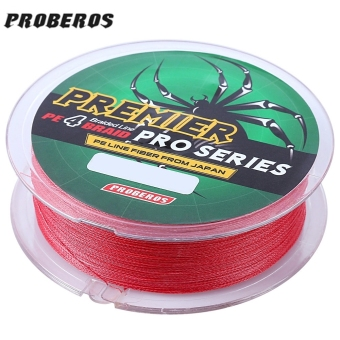 PROBEROS 100M PE 4 Strands Monofilament Braided Fishing Line Accessory 25LBS(Red) - intl