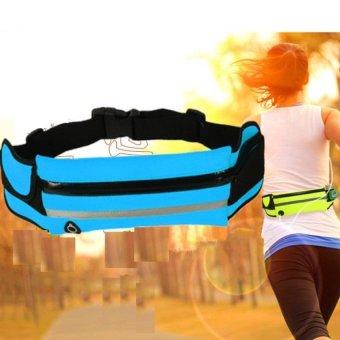 Túi đai đeo bụng chống nước có dải phát quang H103 (Xanh lá).