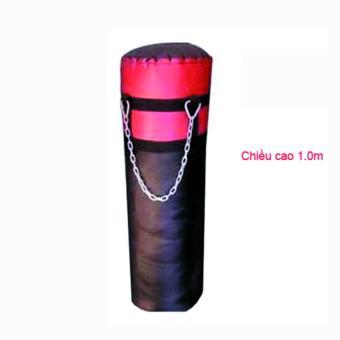 Bao tập đấm bốc cao 100 cm ( Đen phối đỏ, xanh )