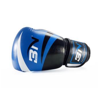 Găng tay tập boxing BN size 12oz ( Đen phối xanh )