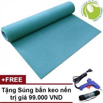 Thảm tập yoga gym Cao Cấp có túi đựng + Tặng súng bắn keo nến