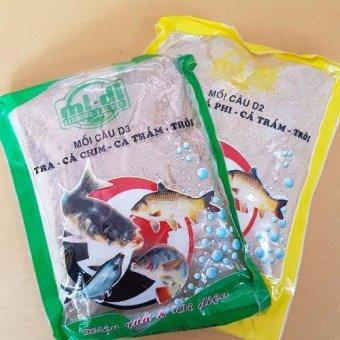 Bộ 2 Bịch Mồi Câu Cá Chim - Phi - Trắm - Tra