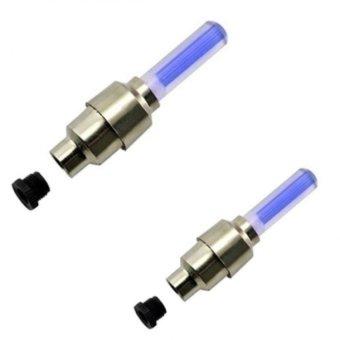 Bộ 2 đèn led gắn van bánh xe đạp (xanh dương)