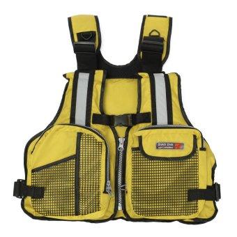 NEW Adult Marine Buoyancy Aid Sailing Kayak Fishing Boating Ski Life Jacket Vest Yellow - intl