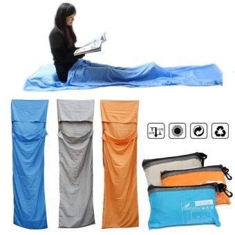 Portable Outdoor Camping Travel Multifunction Ultra-light Envelope Sleeping Bag Grey - Intl