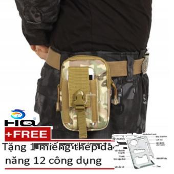Túi Đeo Hông + Tặng Miếng Thép Đa Năng 12 Tác Dụng HQ 80TU57-192