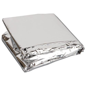 Silver Thin Emergency Survival Rescue Curtain Outdoor Life-saving Blanket - intl