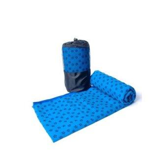 Khăn Trải Thảm Tập Yoga Hoa - Zeno (xanh đậm)