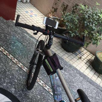 Giá đỡ kẹp điện thoại gắn tay lái xe đạp và moto phượt CAO CẤP H83-ĐEN