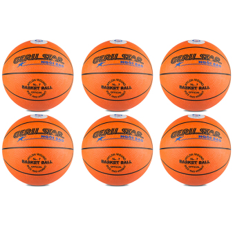 Bộ 6 quả bóng rổ Gerustar số 7 cao su (Cam)
