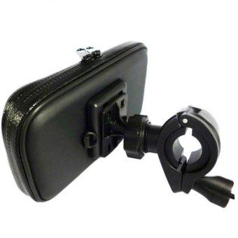 Giá đỡ kẹp điện thoại chống nước trên xe đạp, màn hình cảm ứng, chống sóc 3 lớp cao cấp H100-ĐEN