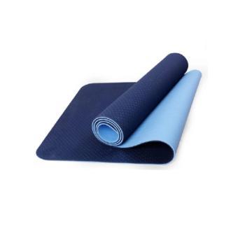 Thảm tập yoga Kamasport TPE 2 lớp kèm túi (Xanh dương)