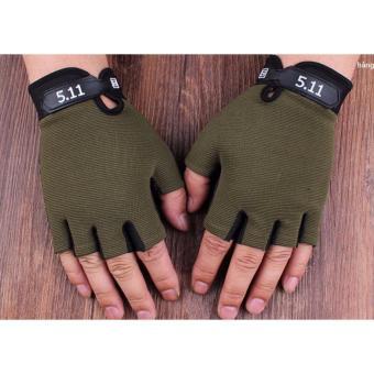 Găng tay thể thao quân đội (mầu xanh rêu )