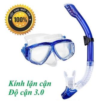 Mặt nạ lặn ống thở Độ cận 3.0 POPO Sports