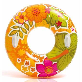 Phao tròn Intex hình hoa có tay cầm 97 cm dùng cho người lớn hoặc trẻ trên 12 tuổi (cam)