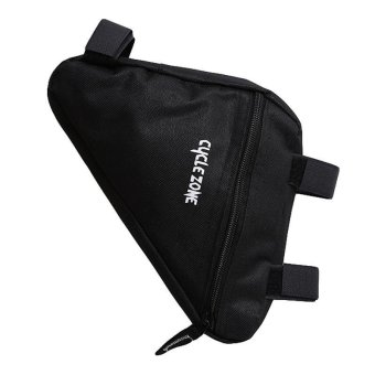 LALANG Triangle Waterproof Cycling Bike Bicycle Front Tube Frame Pouch Bag Holder Saddle (Black) - intl