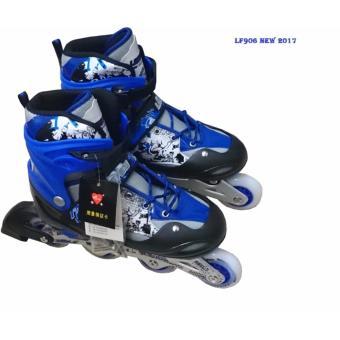 Giầy trượt patin cao cấp cho trẻ em LF906 Size L (Xanh đen)