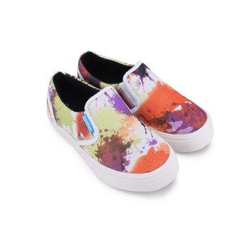 Giày lười nữ QuickFree W130210-006 (in bông cam)
